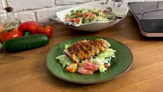 Вкусный салат с курицей и авокадо простой рецепт
