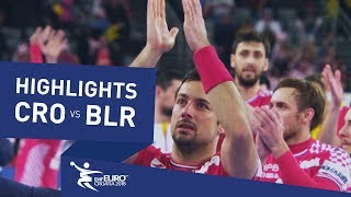 Highlights | Croatia vs Belarus | Men's EHF EURO 2018