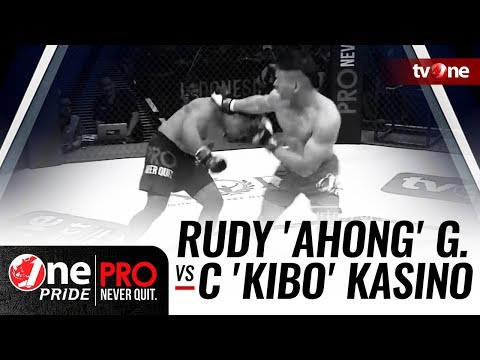 [HD] Rudy 'Ahong' Gunawan Vs Christian 'Kibo' Kasino - One Pride Pro Never Quit #17 - Title Fight