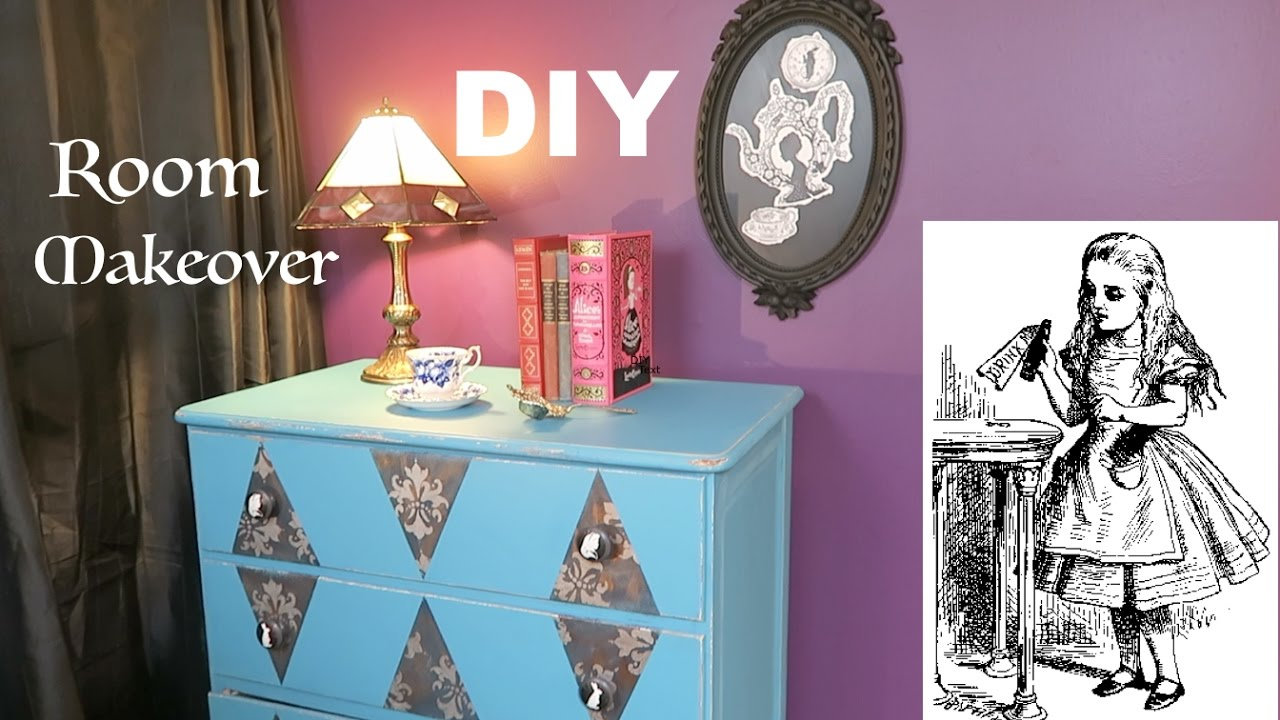 Diy Room Makeover Alice In Wonderland Inspired