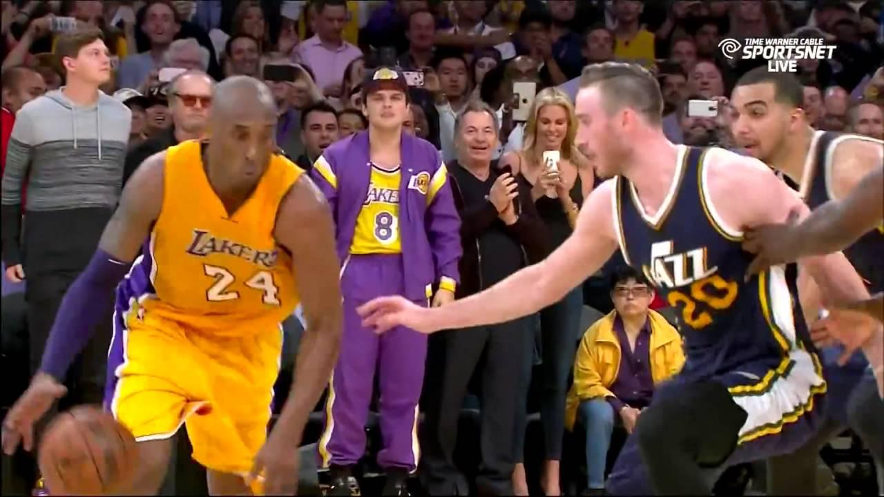 Kobe Bryant Game Winning Jumper in his Last Game