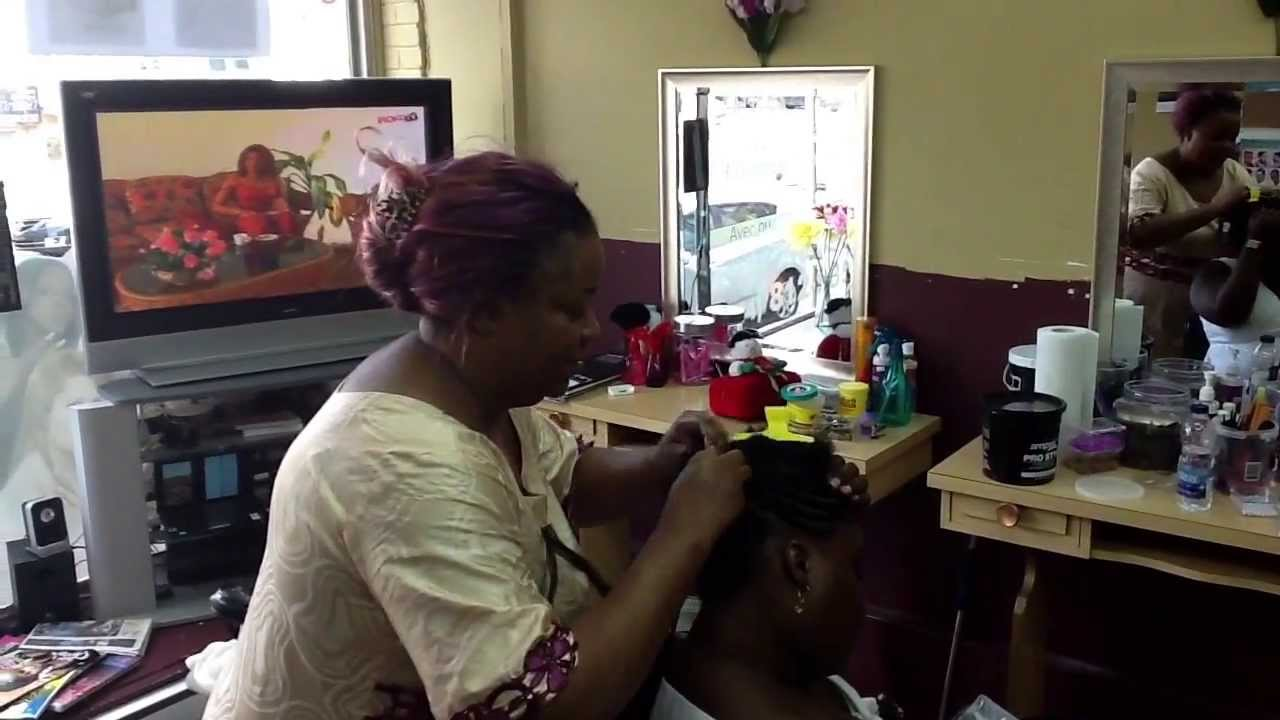 Salon de coiffure belle africaine - YouTube