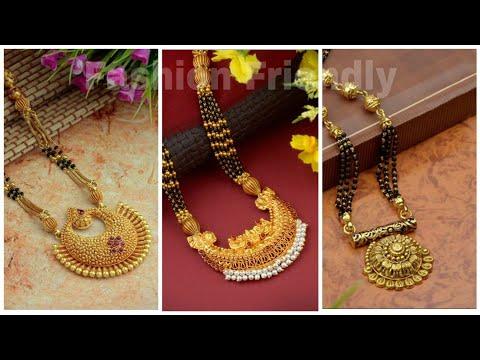 Latest Gold Mangalsutra Designs 2019 Gold Mangalsutra Designs Fashion Friendly By Fashion Friendly,Bridal Lehenga Blouse Back Designs 2020