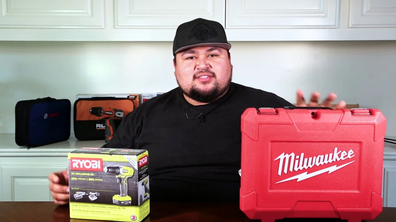 Ryobi Vs Milwaukee 12v Drills 2017 Battery Test Sd And Performance