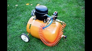 DO NOT THROW AWAY YOUR OLD REFRIGERATOR COMPRESSOR / How to make Homemade air Silent Compressor