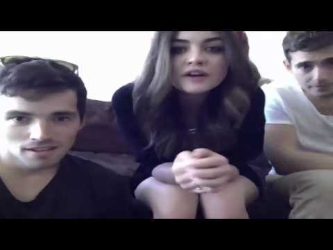 Ian Harding, Lucy Hale, Julian Morris Ustream 09232012 part2