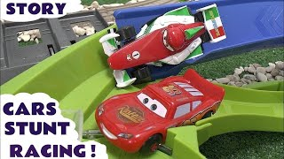 Download Lightning McQueen Disney Pixar Cars Stunt Race Cars 2 Speedway Story Spider-Man Spongebob Judges Mp3 and Videos