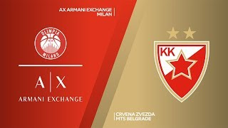 AX Armani Exchange Milan - Crvena Zvezda mts Belgrade Highlights | EuroLeague, RS Round 12