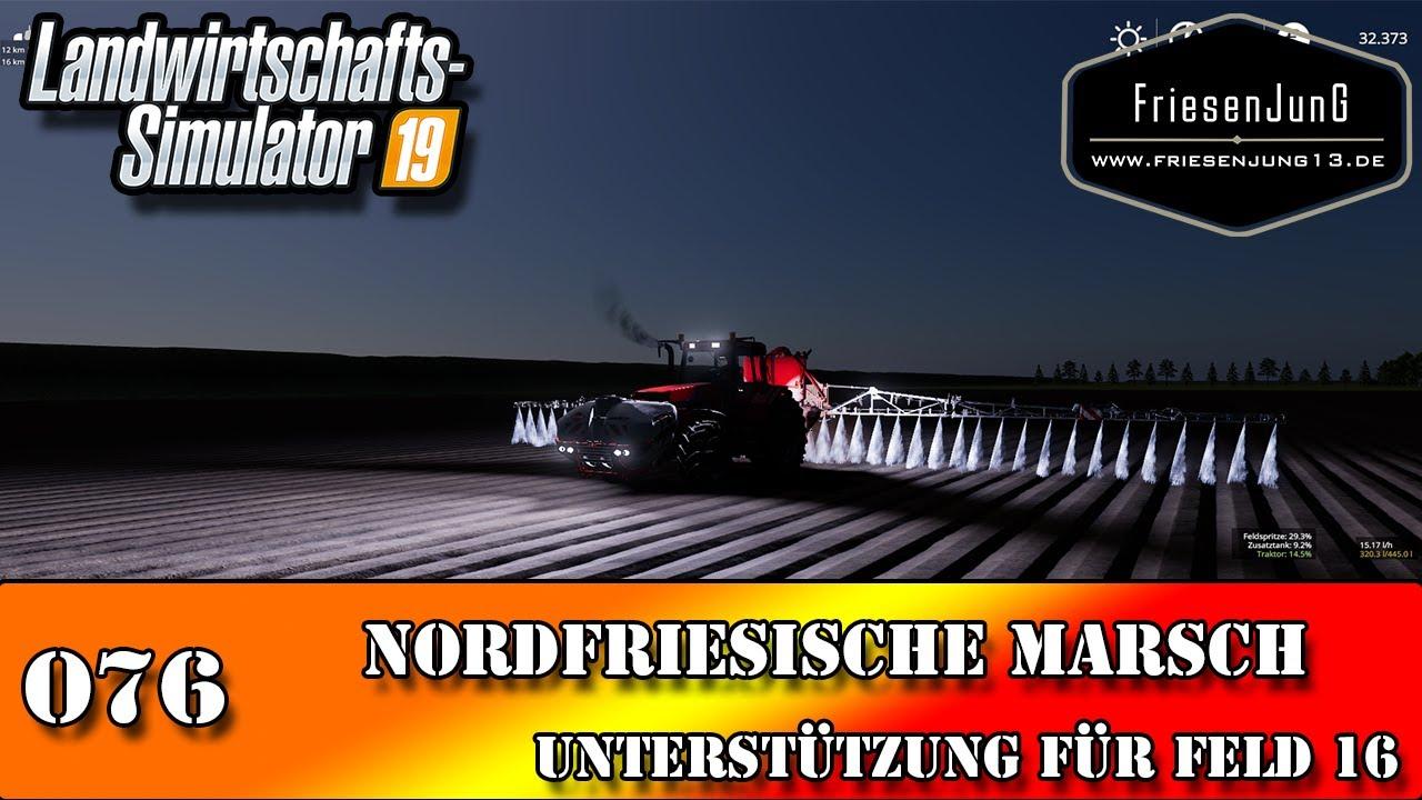 LS19 Nordfriesische Marsch mit Courseplay 076 - Unterstützung für Feld 16