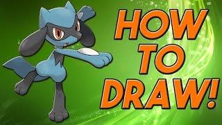 How To Draw Riolu! | Pokemon Zoroart With N