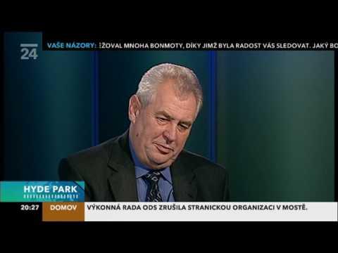 Miloš Zeman v Hydeparku