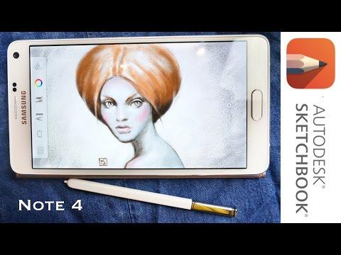 Обзор Samsung Galaxy Note 4 и Рисовалки Sketchbook Pro. 2 Часть