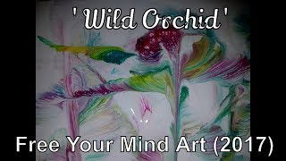 Fluid Art Acrylic Painting TIPS with STRING 'Wild Orchid ' (2017)  Stuart Wimbles Free Your Mind Art