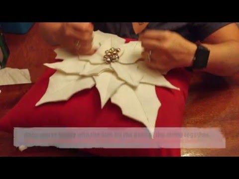 DIY: Poinsettia Throw Pillow