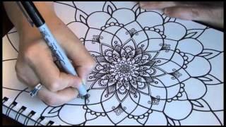 Créations Joëlle Mercier - Dessin fleur style Mandala #9161