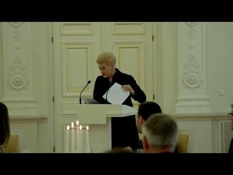 Presidential speeches at Official Dinner in Vilnius, in honour of President Michael D. Higgins