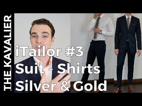 iTailor Suit & Shirt - Gold and Silver Lines Unboxing and