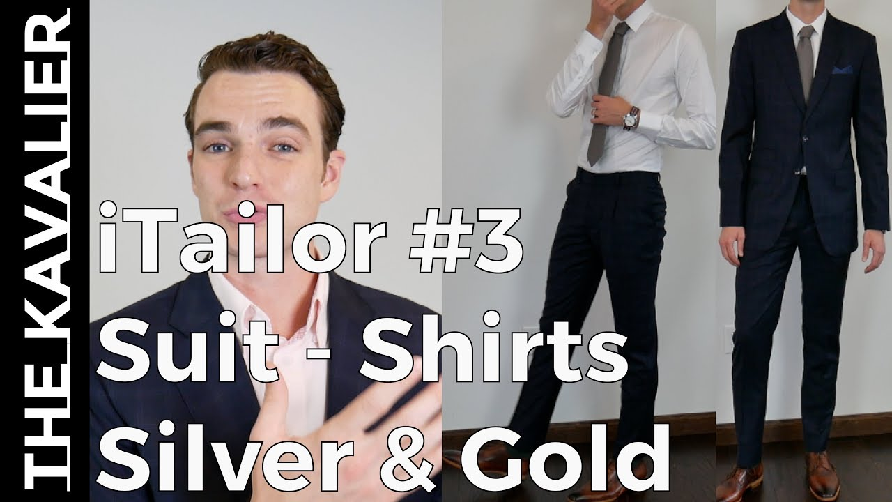 modern and elegant in fashion double coupon 100% quality iTailor Suit & Shirt - Gold and Silver Lines Unboxing and Review