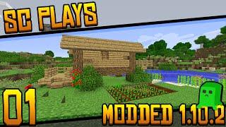 """SC Plays: Modded Minecraft 1.10.2 - E01: """"Lightweight Modpack"""""""