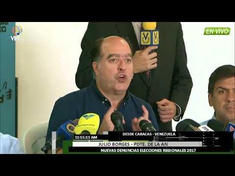 Venezuela - Julio Borges denuncia incidencias que contribuyeron al fraude electoral -VPI