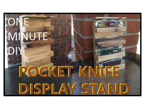 Pocket Knife Display Stand Made From Persimmon Wood