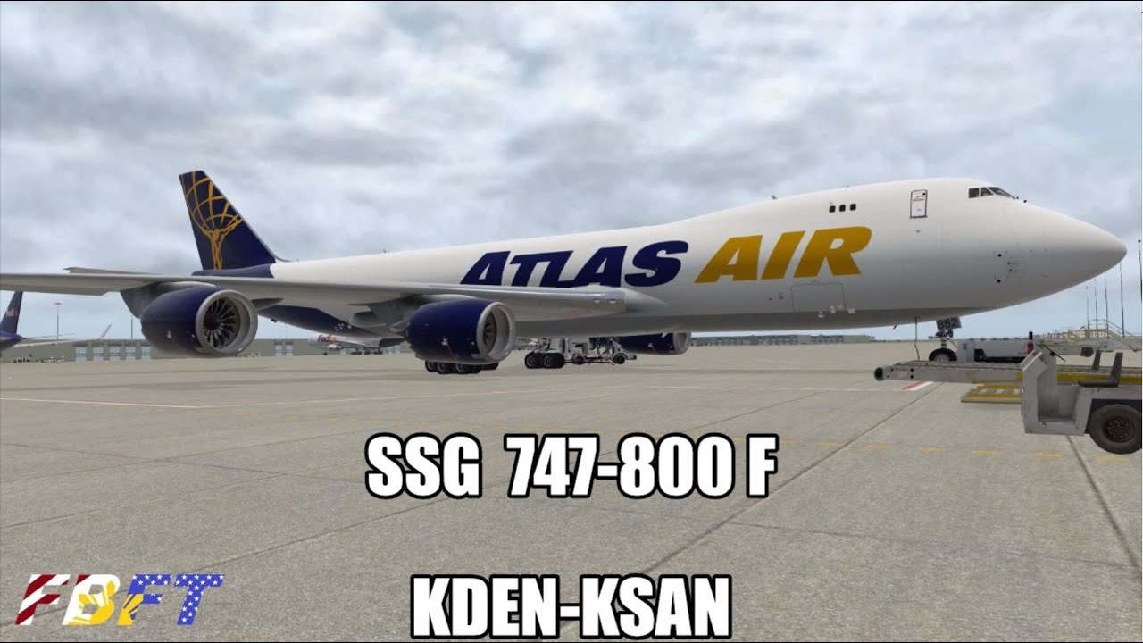 X-Plane 11 | SSG 747-8 | Atlas – KDEN to KSAN | FlightSim Planet