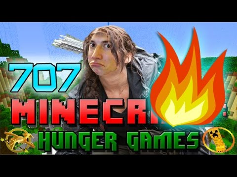 Minecraft: TNT, FIRE, And ARROWS Oh My! Hunger Games W/Bajan Canadian! Game 707