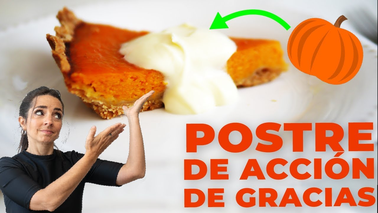 TARTA DE CALABAZA DULCE - Receta de acción de gracias (thanksgiving)