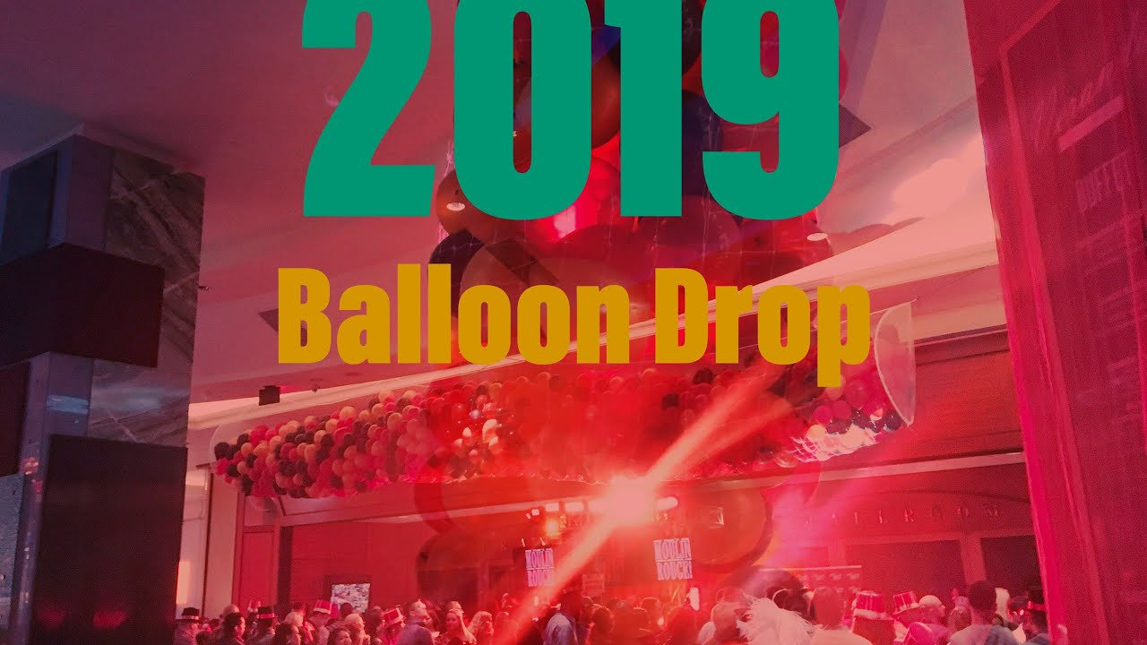 Balloon Drop at Foxwoods ☆ New Year's HAPPY 2019 - YouTube