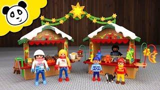 Playmobil Familie - Diebe auf dem Weihnachtsmarkt?! - Spielzeug auspacken & spielen  - Pandido TV