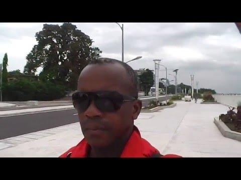 La Corniche de Brazzaville en Face de Kinshasa Capitale de l'autre Congo.
