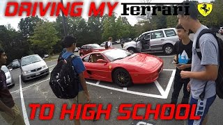 Driving My Ferrari To High School At 17! Funny Supercar Reactions!