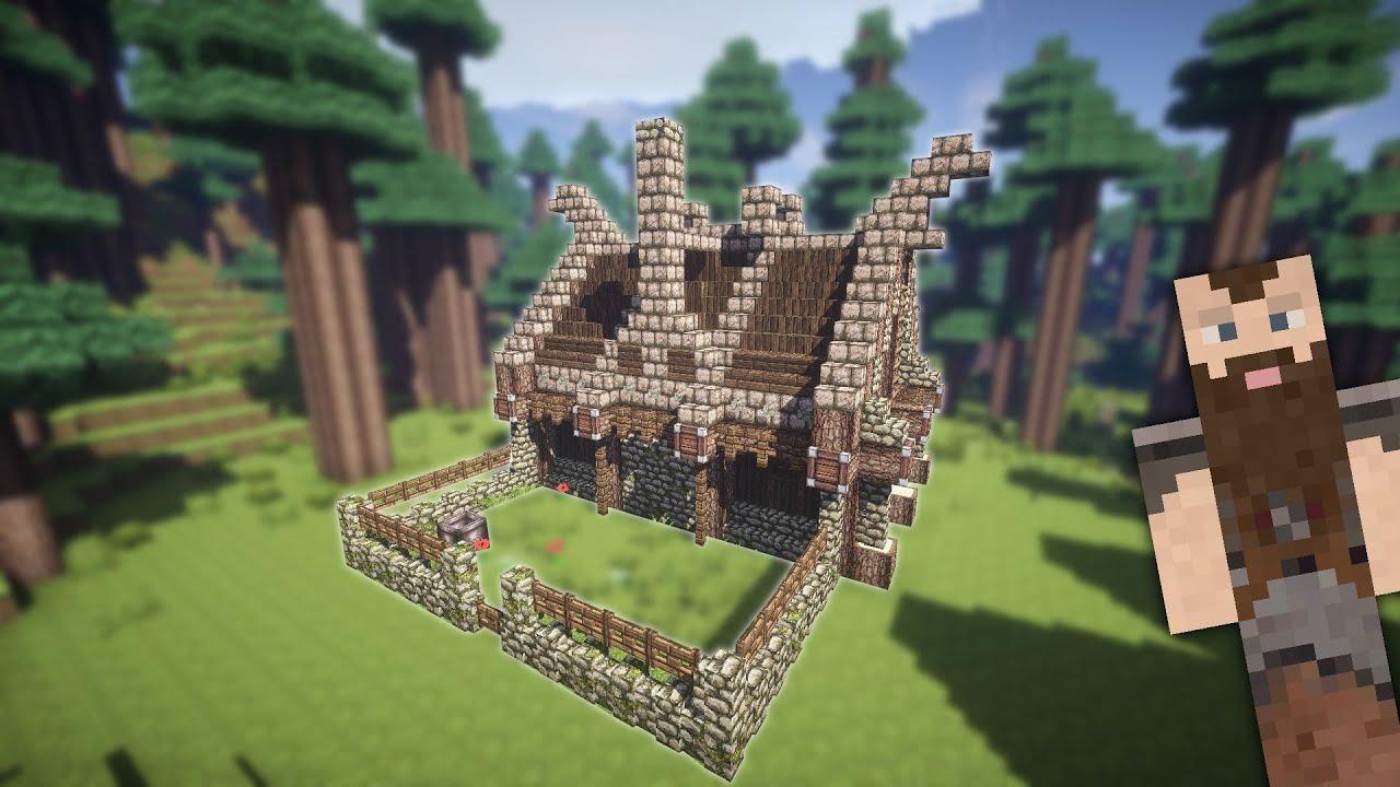 Danish Minecraft Small Viking House Part TUTORIAL YouTube - Minecraft wikinger hauser