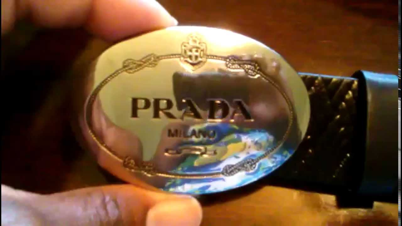 Prada Big Buckle Belt and Prada Web Belt - YouTube