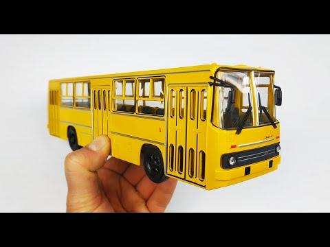 Модель автобуса Икарус 260 масштаб 1:43 Наши Автобусы Модимио №4 распаковка и обзор! Про машинки!