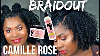 Funky + Cute Braidout Hair Style With Camille Rose Naturals | Bubs Bee