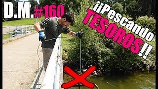 ¡UN RESCATE INESPERADO! pescando con SUPER IMÁN de neodimio, Magnet Fishing - Detección Metálica 160
