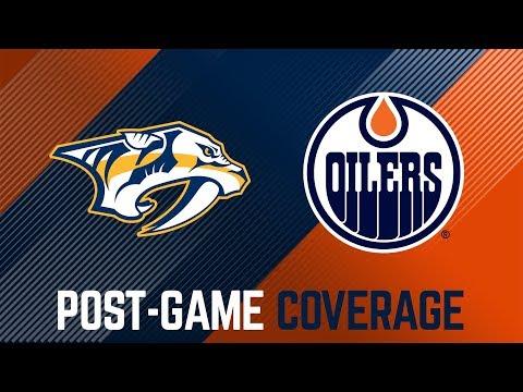 LIVE | Oilers Post-Game Interviews at Predators