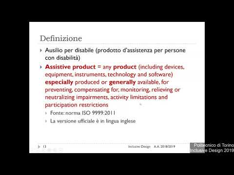 Inclusive Design 2019-L01: Ausili Informatici
