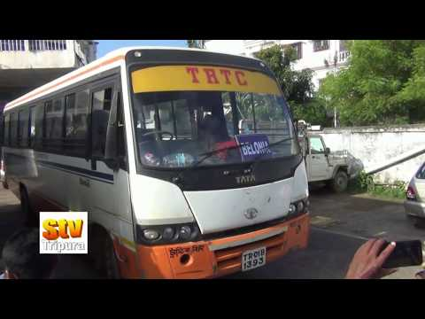 TRTC launch new bus service in various roads in Tripura (Please Subscribe This Channel))