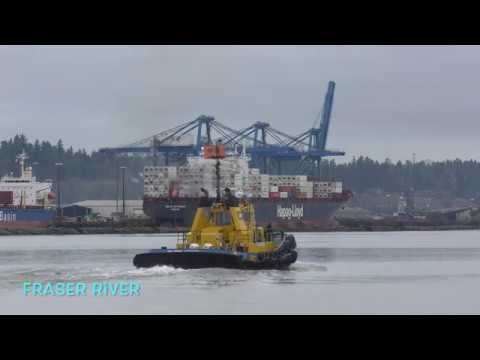 PACIFIC tugboat SMIT  fraser river Canada 2018
