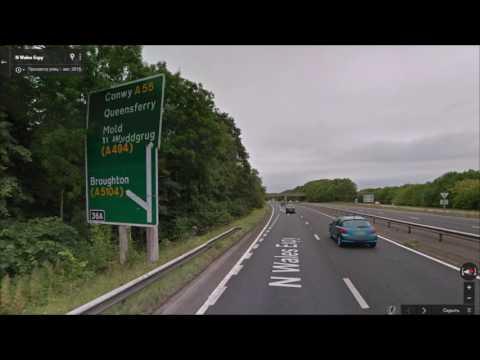 Часть 56. Дорога Честер - Молд. Part 56. Road Chester - Mold.
