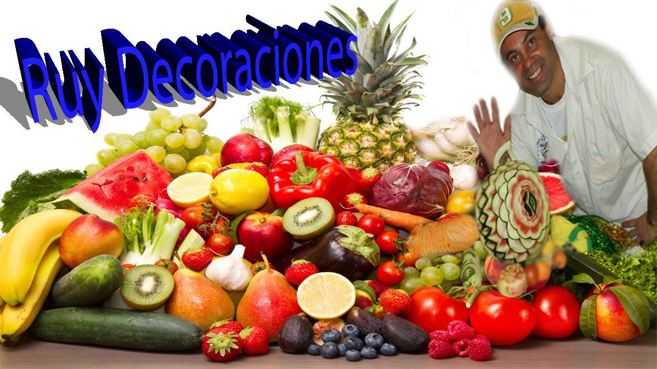 Ruy decoraciones tallado de frutas y verduras mukimono el for Secar frutas para decoracion