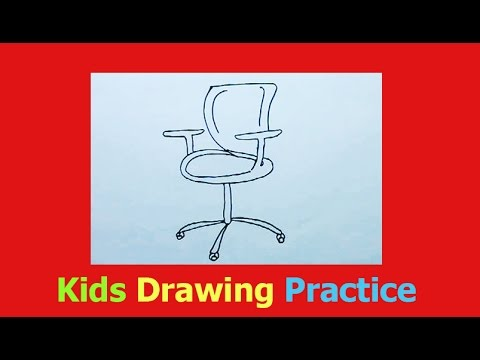 How To Draw A Desk Chair Youtube