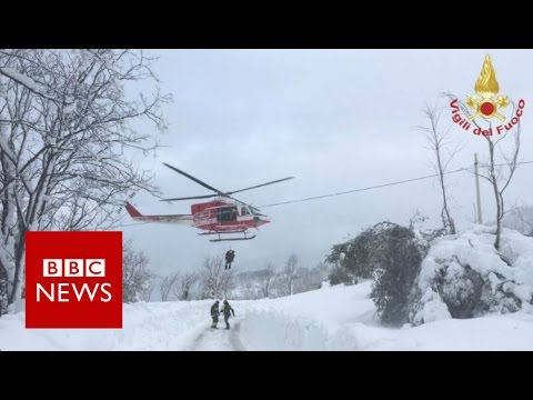 Italy avalanche: 'Many missing' in Rigopiano hotel in Abruzzo - BBC News