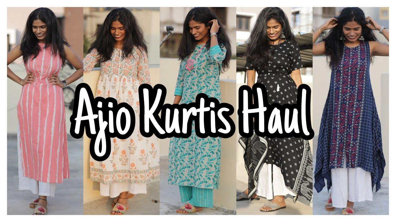 Affordable Kurtis Haul | Huge Ajio Kurtis Haul | nayalooks | Navya Varma