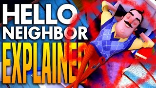 what really happens in alpha 2 who is the player hello neighbor theory explained