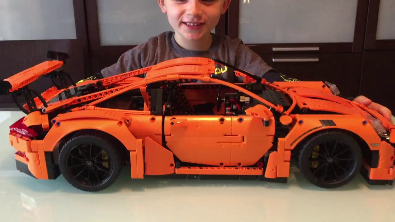 new lego technic porsche 911 gt3 rs set 42056 review demo by andy music by lindsey stirling. Black Bedroom Furniture Sets. Home Design Ideas