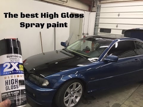 The Best spray can paint for high gloss. (Hood has imperfections)