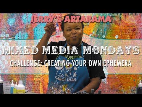 Mixed Media Monday - Creating Your Own Ephemera